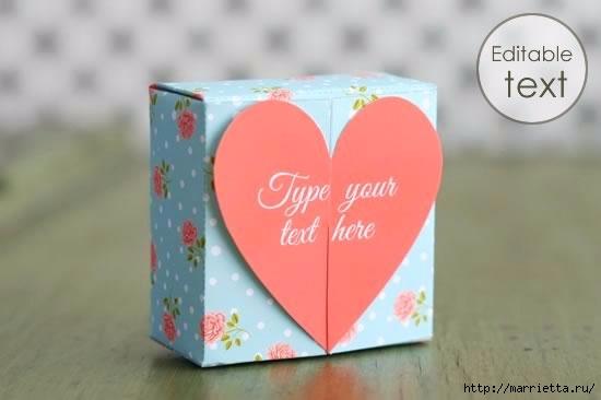 Шаблон сердечной коробочки для подарка (5) (550x366, 67Kb)