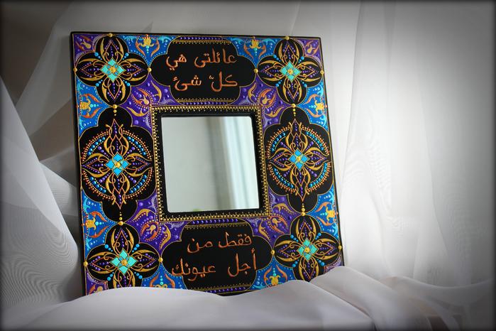 Как расписать зеркало своими руками фото 1