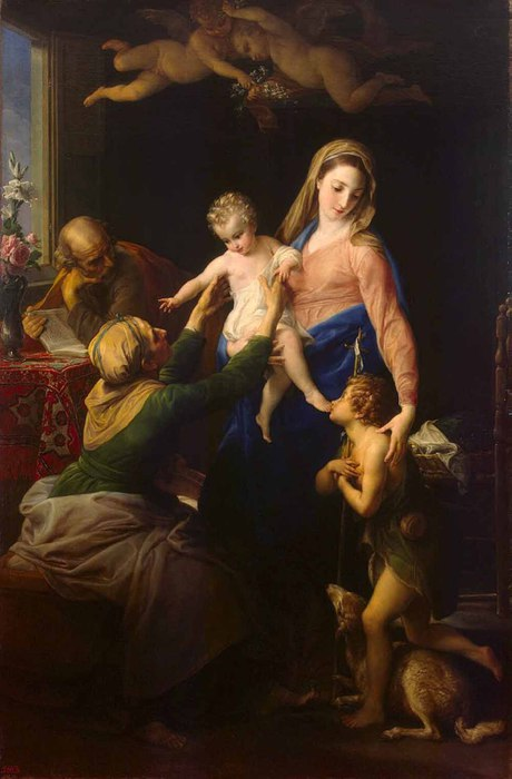 Помпео Джироламо Батони  «Святое семейство со св.Елизаветой и Иоанном Крестителем»   1777 (460x700, 54Kb)