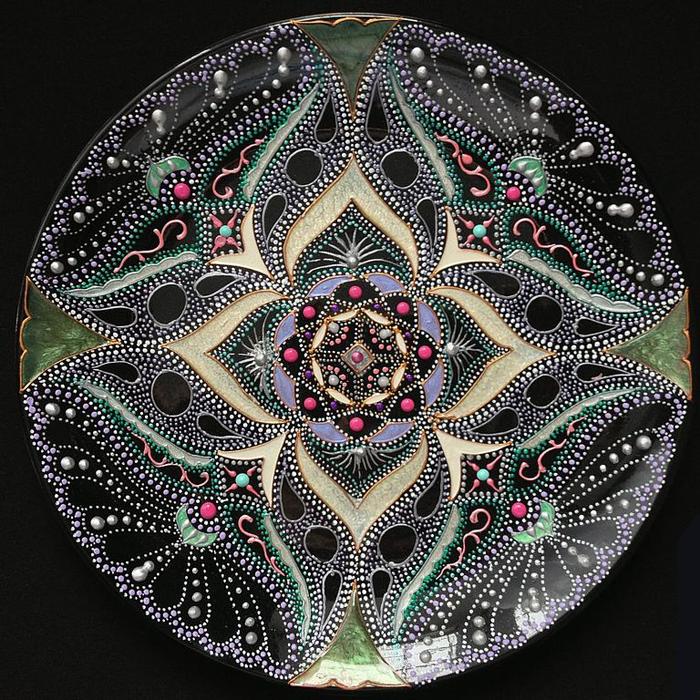 Точечная роспись мастер класс тарелка с
