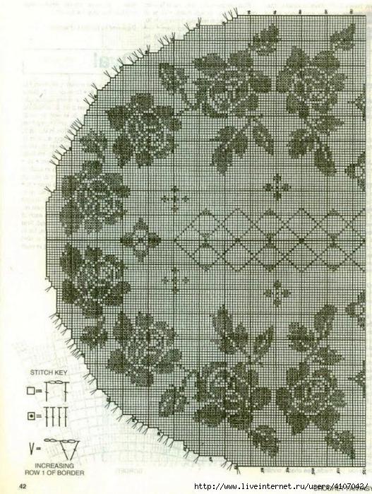 Круговое филейное вязание 6