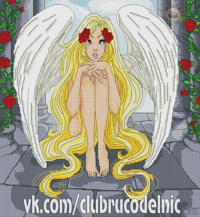 Девушка-ангел (646x700, 788Kb)