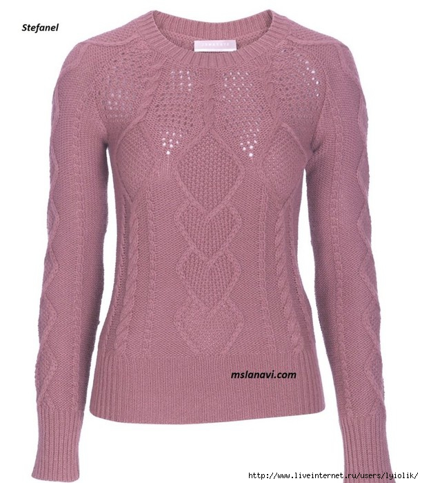 Вязаный-пуловер-спицами-от-Stefanel-полочка-896x1024 (612x700, 218Kb)