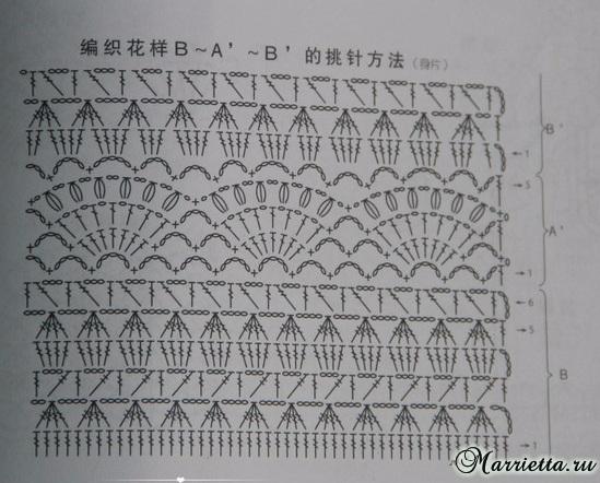 Весенний ажурный пуловер крючком из меланжевой пряжи (9) (549x442, 228Kb)