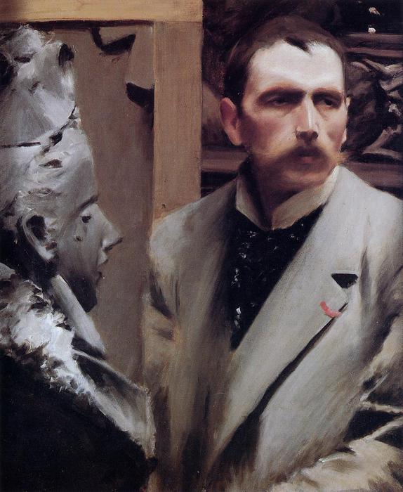 Автопортрет  ок. 1889  Галерея Уффици - Флоренция (Италия) (574x700, 60Kb)