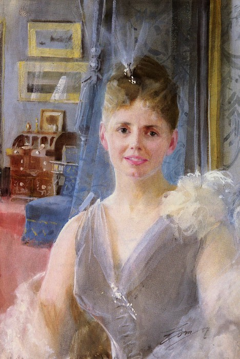 Портрет Эдит Палгрейв Эдвард   в её   лондонской резиденции (468x700, 102Kb)
