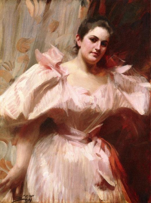 Фрида Шифф, позже г-жа Феликс Варбург, 1894, х.м. Метрополитен (520x700, 114Kb)
