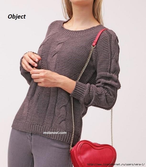 Вязаный-пуловер-спицами-от-Object-OBJRANDY-2 (611x700, 262Kb)
