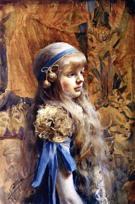 Кристина Морфи, 1884, акварель, Прадо (464x700, 297Kb)