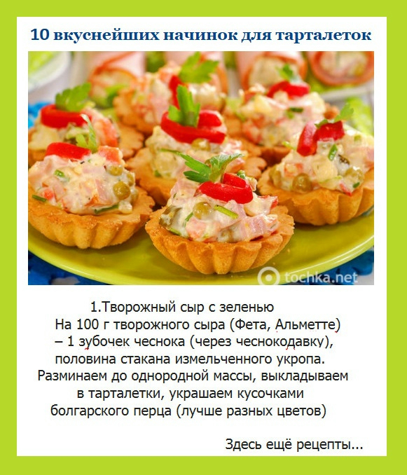 Начинка для тарталетки рецепты 170