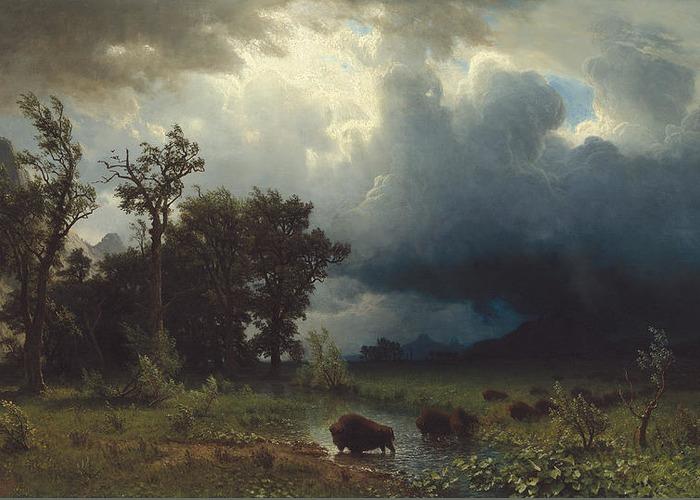 2-buffalo-trail-the-impending-storm-albert-bierstadt (700x500, 284Kb)