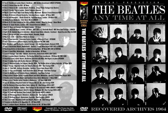 The Beatles Any Time At All Recovered Archives (1964)
