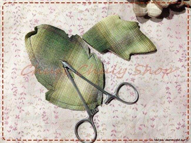 Текстильная брошь с цветами из ткани. Мастер-класс (6) (650x488, 253Kb)
