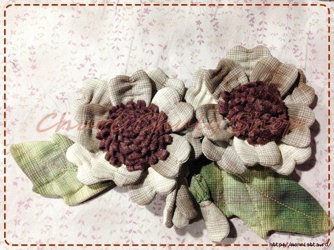 Текстильная брошь с цветами из ткани. Мастер-класс (7) (650x488, 241Kb)