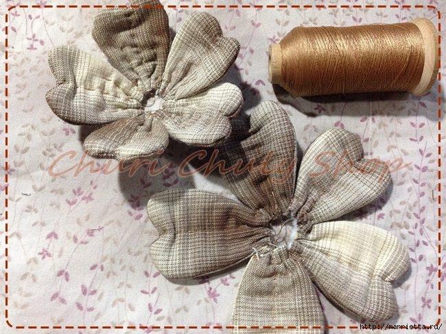 Текстильная брошь с цветами из ткани. Мастер-класс (9) (650x488, 261Kb)