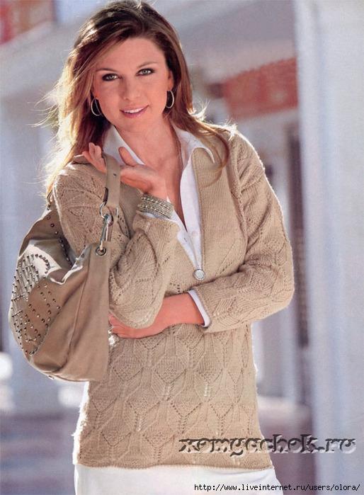 PoluverSp054 беж пуловер женск.1 (514x700, 242Kb)