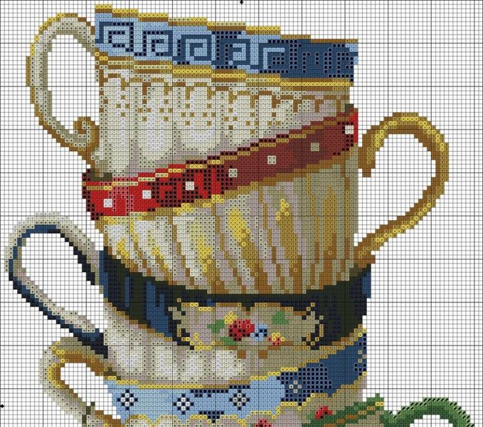 Вышивка крестиком схемы чашки