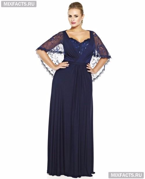 Фасоны длинных платьев для полных женщин с животом возраст 50 лет