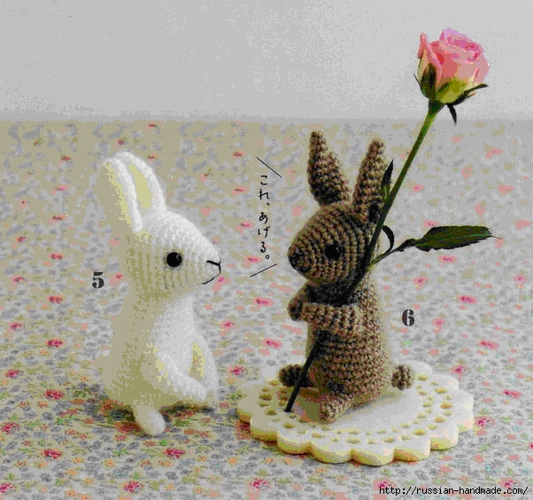 Зайцы амигуруми крючком. Описание (2) (602x564, 315Kb)