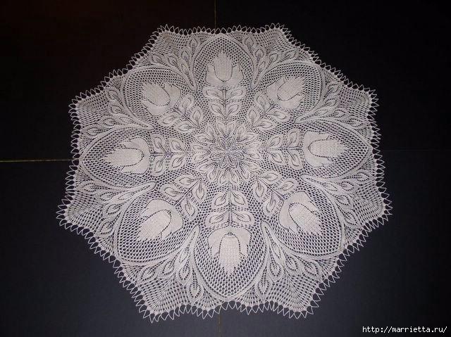 Набор спицами скользящей петли для вязания из центра (2) (640x479, 202Kb)