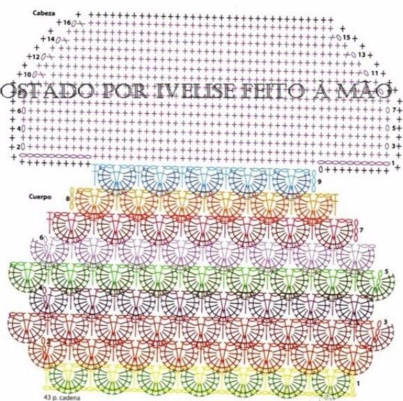 Детская подушка СОВУШКА крючком. Схемы (3) (579x576, 490Kb)