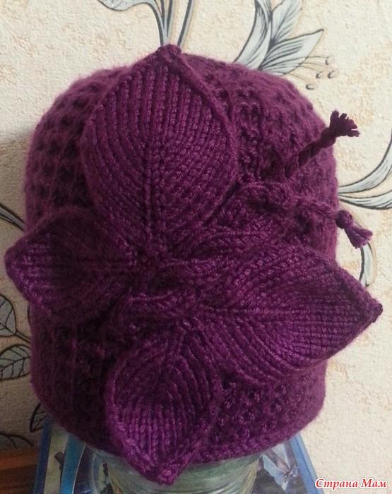 Вязание шапок с бабочками 33