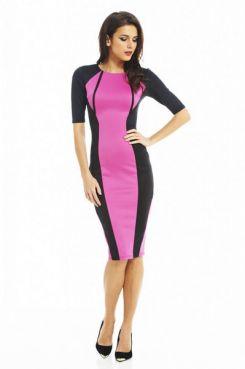 Солидное удлиненное платье до колена розово-черного цвета/5946850_12136_2 (245x369, 8Kb)