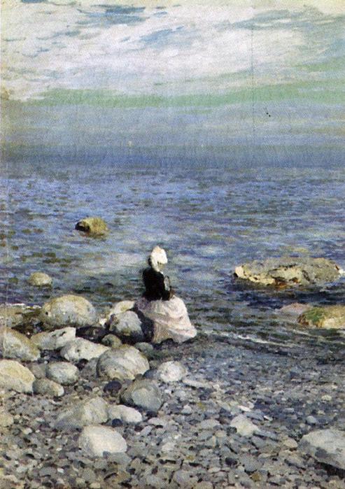 коровин «На берегу Черного моря (493x700, 440Kb)