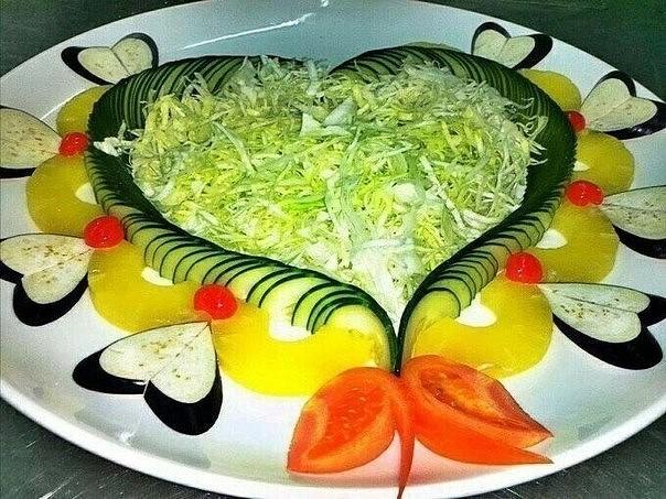 Фото салатов в красивом оформлении