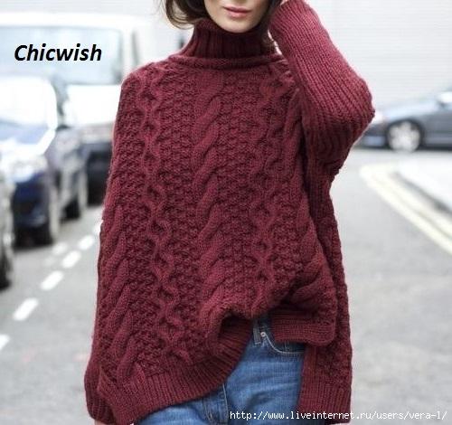 длинный-свитер-спицами-4 (500x470, 150Kb)