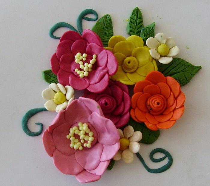 Поделки из пластилина цветы