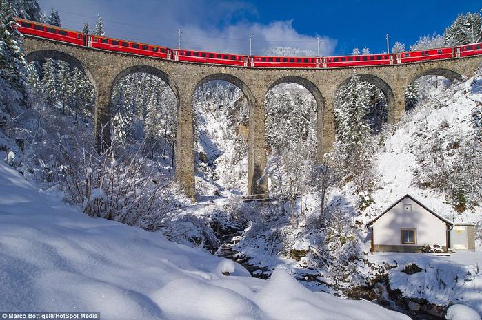 железная дорога в швейцарских альпах 2 (700x465, 446Kb)
