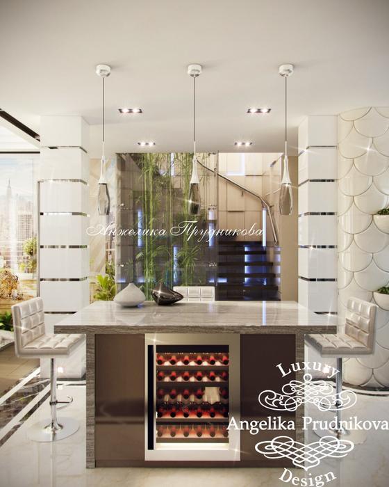 10_Интерьер кухни на первом этаже в многоуровневой квартире (560x700, 364Kb)