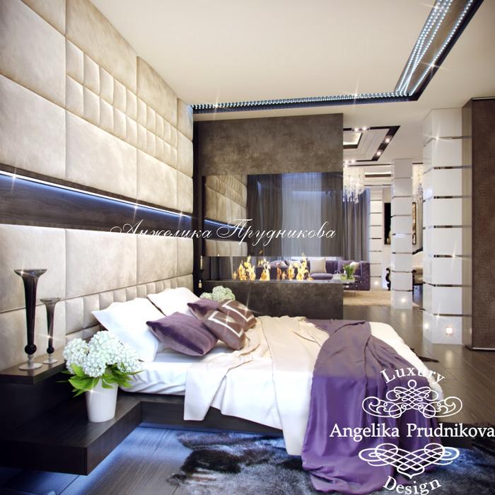 25_Интерьер спальни в многоуровневой квартире (700x700, 493Kb)