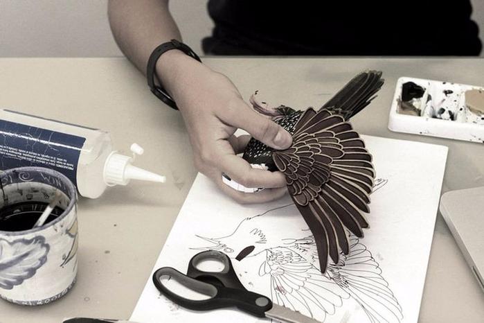 бумажные птицы Дианы Бельтран Эрерра 11 (700x466, 244Kb)