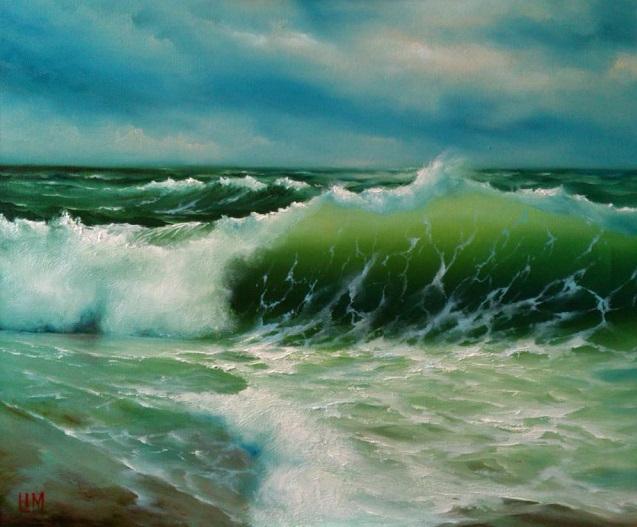 Волны у берега (637x527, 307Kb)