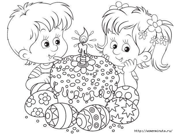 Пасхальные раскраски для девочек