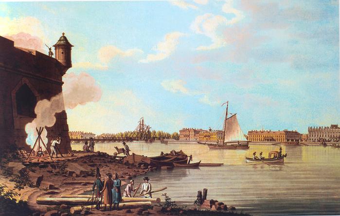 3. 1797 - Невские ворота Петропавловской крепости (700x444, 444Kb)