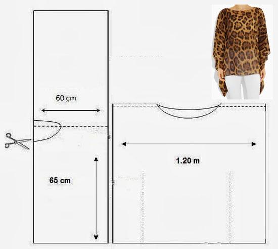 Сшить тунику большого размера без выкройки