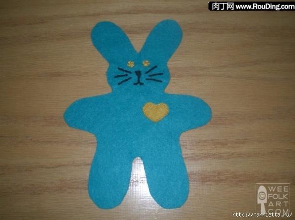 Как сшить кролика из фетра (2) (593x444, 164Kb)