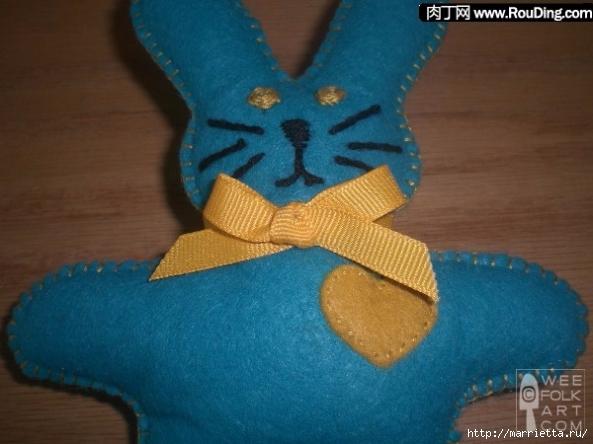 Как сшить кролика из фетра (6) (593x444, 172Kb)