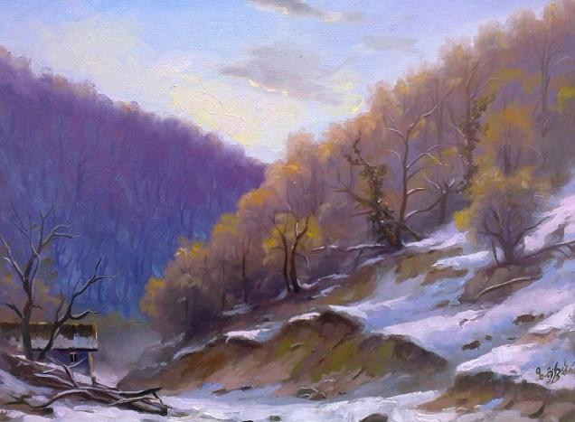 Зимний вечер. Этюд. (636x467, 291Kb)