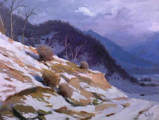 Зимой. Этюд (638x481, 326Kb)