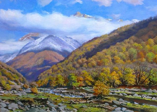 вид кавказский гори осеню (637x455, 361Kb)
