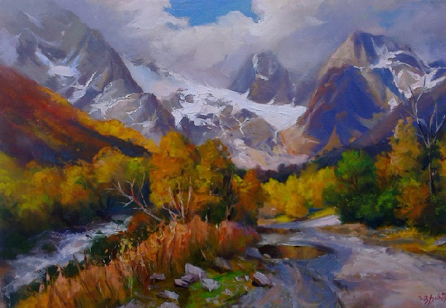 Кавказский Пеизаж осенью (634x437, 335Kb)