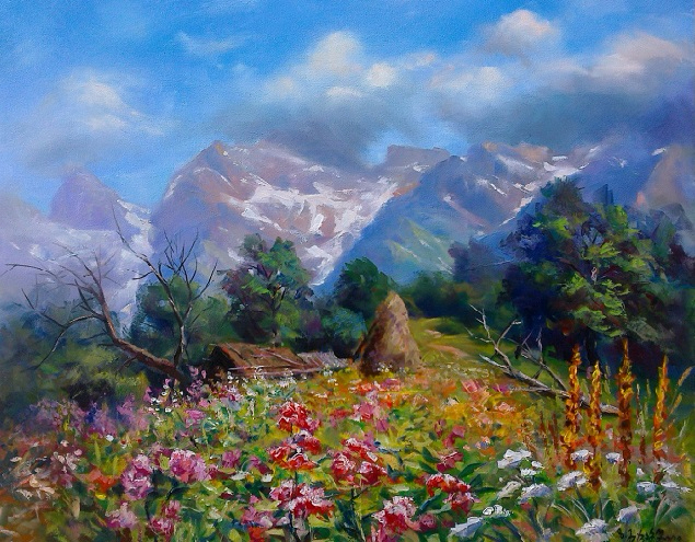 Кавказский в горах (635x495, 446Kb)