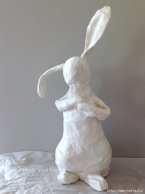 Кролик из пластиковой бутылки и папье-маше (16) (480x640, 108Kb)