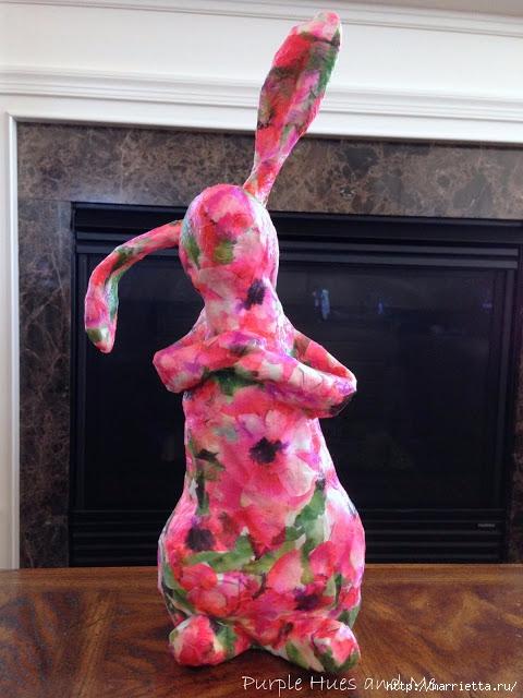 Кролик из пластиковой бутылки и папье-маше (22) (480x640, 190Kb)