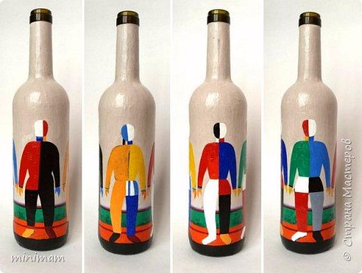 Декоративные бутылки. Роспись акрилом (520x392, 153Kb)