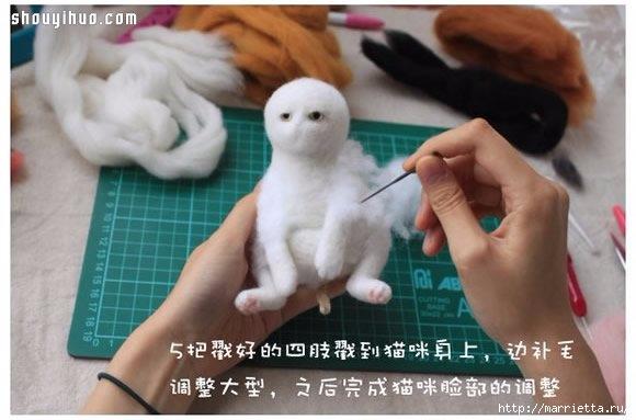 Коты и кошечки в технике сухое валяние из шерсти (6) (580x383, 115Kb)